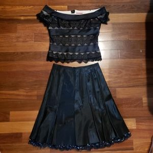 Vintage JS collection skirt and blouse